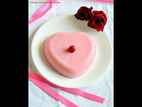 China Grass Pudding - Agar Agar Pudding - Vanilla & Rose Pudding Recipes