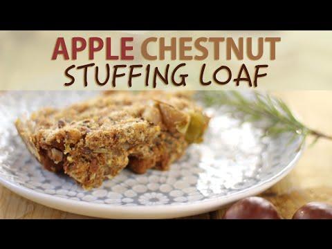 Apple Chestnut Vegan Stuffing Recipe | Thanksgiving Recipes