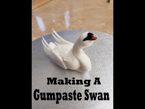 Making a Gumpaste swan, cake topper tutorial fondant