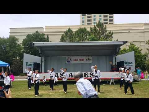 Asia Festival 2016 taekwondo demo performance