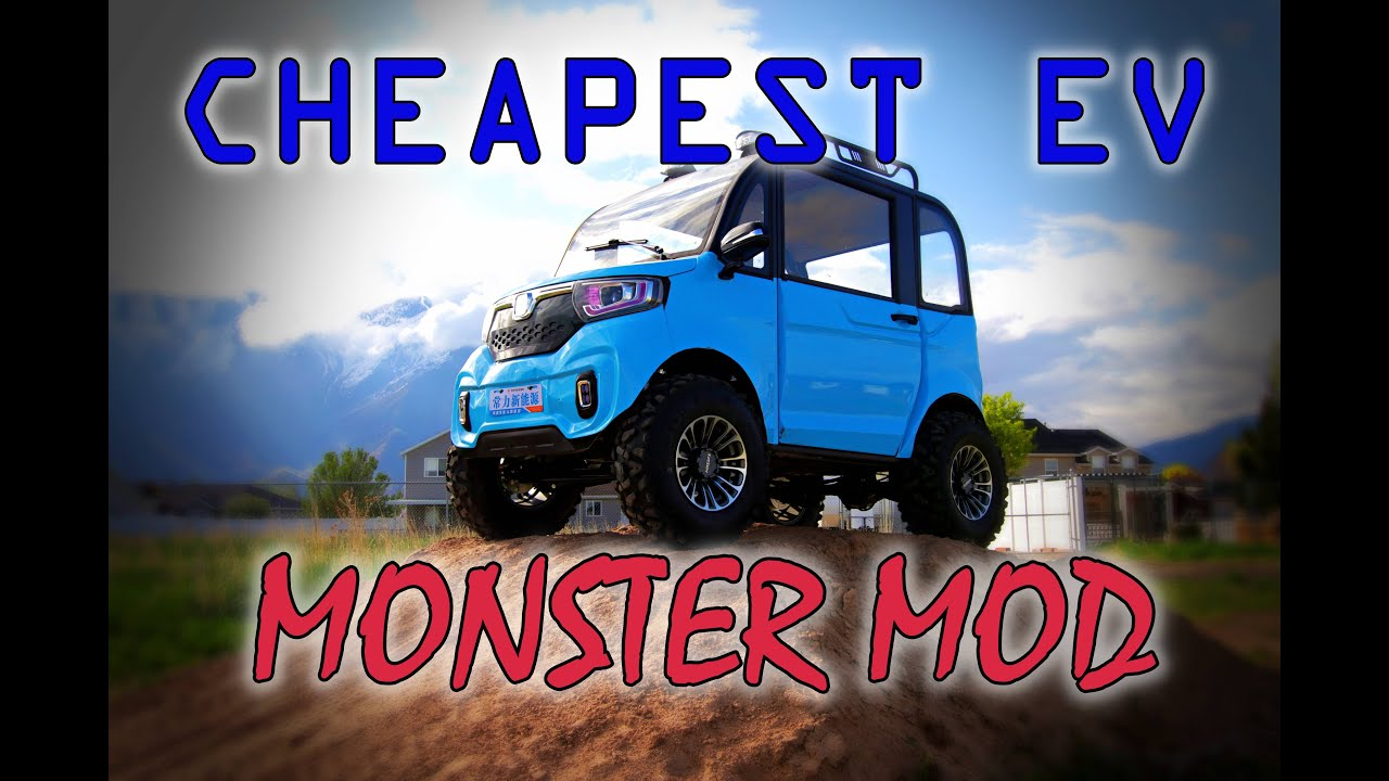 CHANGLI MONSTER MODS! CHEAPEST ELECTRIC VEHICLE EV CHINA CAR WITH LIFT KIT AND MOTOR MODS. DIY UTV