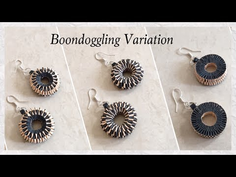 Quilling Paper Weaving/Boondoggling Earrings / DIY / Boondoggling Variation | Priti Sharma