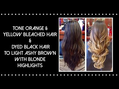 How to bleach Black Hair to Light Brown Tone Orange Hair