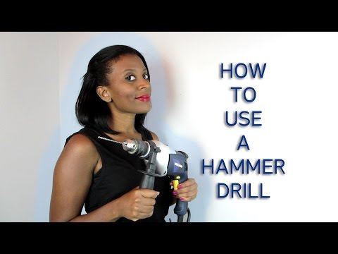 How To Drill Holes Into a Concrete Wall with a Hammer Drill