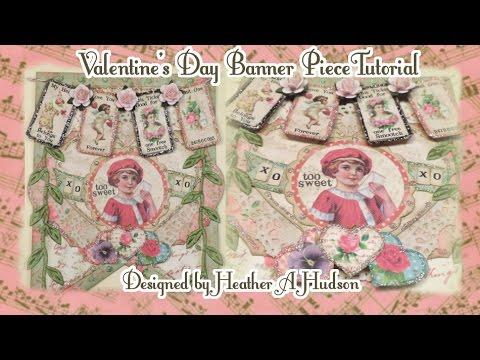 DIY Victorian Valentine's Day Banner Vintage Party Bunting Tutorial