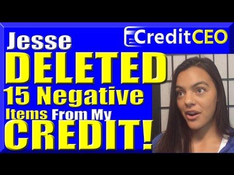 Credit Repair: $8,900 Of Debt and 15 Negative Items DELETED!