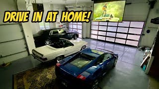 Installing a Drive-In Movie Theater In My Dream Garage (And Roasting other Car YouTubers)