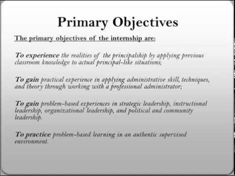 PPP-Purpose and Objectives of Internship