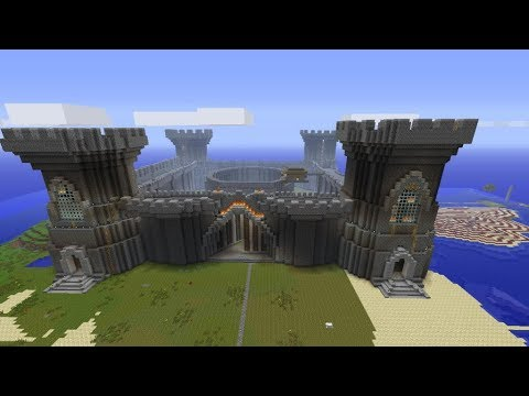 How to build a minecraft castle super quickly! CHEAT! Part 3