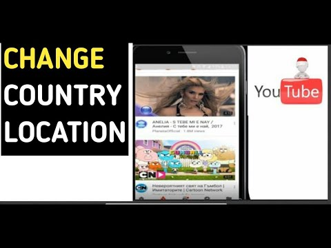 How to change country location on YouTube (android)