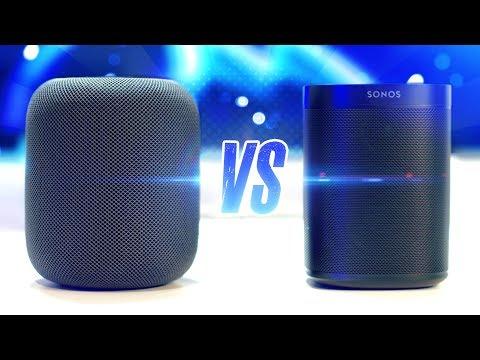 Apple HomePod vs. Sonos One
