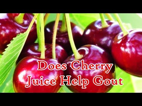 Does Cherry Juice Help Gout