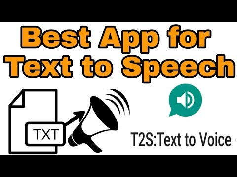 Best App for Text to speech (t2s Real human voice) for android