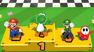 Mario Party 9 Step It Up - Yoshi vs Mario vs Luigi vs Shy Guy Master Difficulty| Cartoons Mee