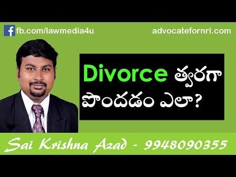 [2018] How To Get Quick Divorce In Hyderabad, India | Quick Mutual Divorce Procedure | NRI Divorce