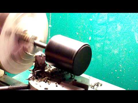 Turning a 2 Inch Delrin Ball Part 1 of 3.MOV