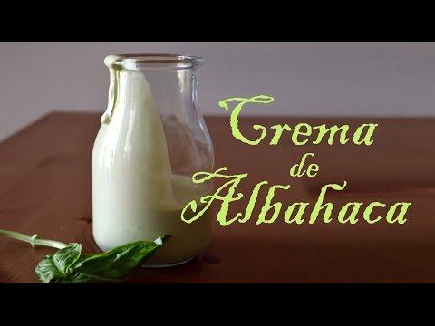 Crema de Albahaca crudivegana con Cashew/RawVegan