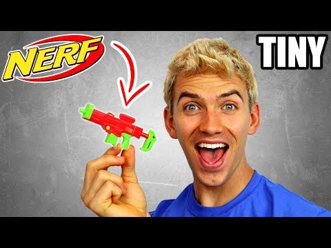 WORLDS SMALLEST NERF GUN!!