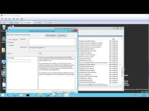 Crear una GPO para forzar la página de inicio de Internet Explorer