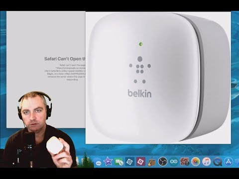 Reset and Connect to Belkin N300 Wifi Extender on Mac OSX