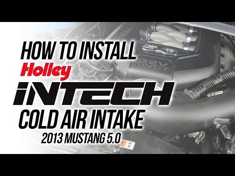 How to Install iNTECH Cold Air Intake in 2013 Mustang GT