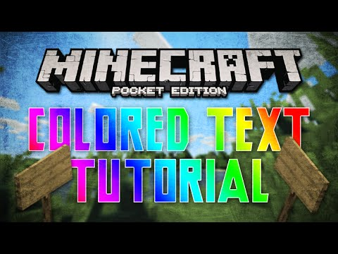 HOW TO Type w/ Colored Text - Minecraft Pocket Edition [0.11.x]