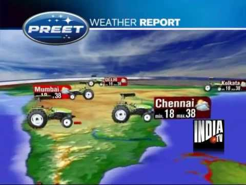 PREET Tractors Weather Report Sponsorship at INDIA TV News Channel