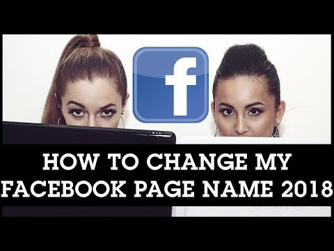 How To Change My Facebook Page Name 2018