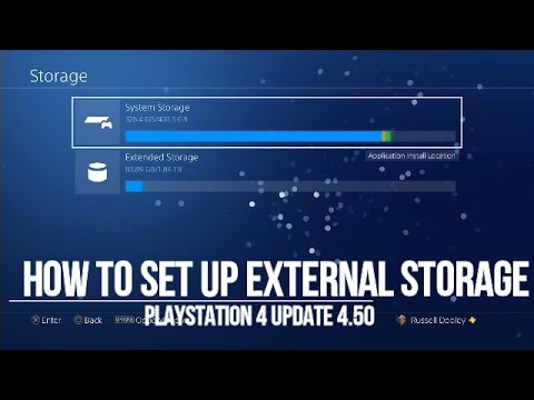 How to set up External Storage on PS4
