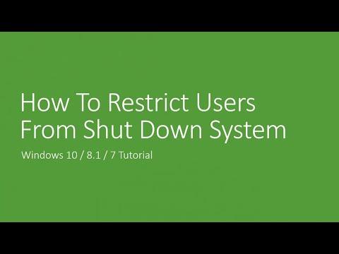 How to Disable Shutdown From Start Menu | Microsoft Windows 10 Training