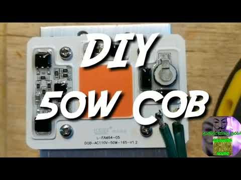 DIY 50w COB driverless grow LED light
