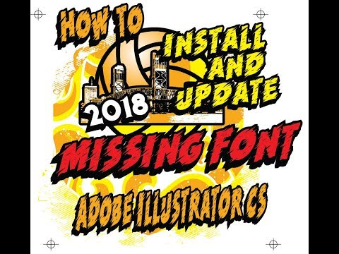 How to install and update missing font Adobe Illustrator CS6