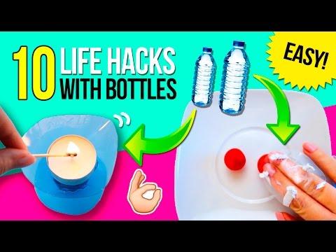 TOP 10 BOTTLE Life Hacks 🤓 Super EASY Tricks with PLASTIC BOTTLES