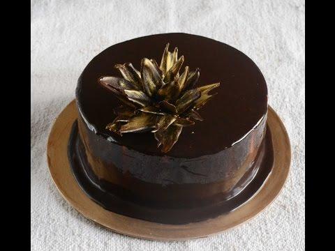 Eggless Gelatin Free (Uses Agar agar) Double Chocolate Mousse Cake with Mirror Glaze - Video Recipe