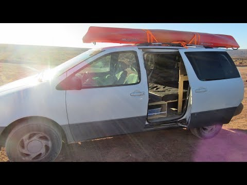 Minivan Camper Conversion and Tour (DIY Adventure Van Build)