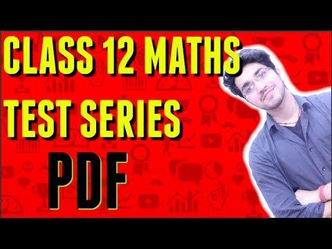 Score 100   MATHS Test Series PDF   Class 12  