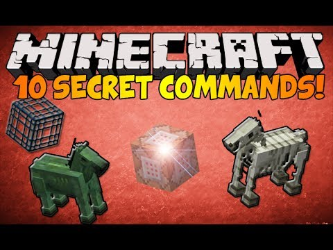 Minecraft - (1.8.1) 10 Secret Commands in ONE VIDEO!