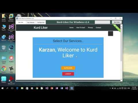 Auto Liker FB | Kurd-Liker Software PC Tutorial For Users