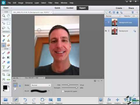 How to Use the Sharpen and Blur Tool with Photoshop Elements 12 to Enhance an Image