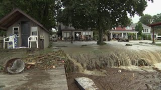 Flash flooding emergency in New York, Pennsylvania