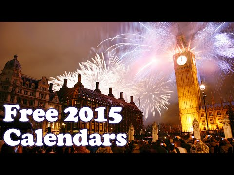 Download Free 2015 Calendars in PDF, InDesign INDD, IDML and Illustrator AI formats