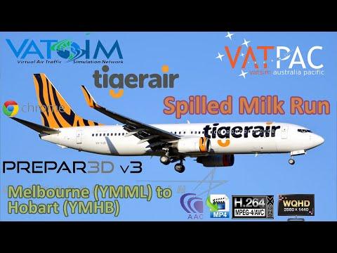 Prepar3d V3.1 | Spilled Milk Run | Melbourne to Hobart | Vatpac