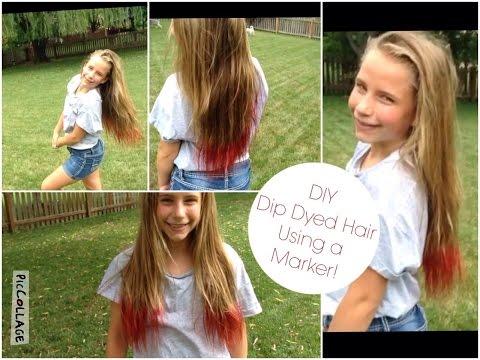 DIY: Dip Dyed Hair Using a Marker! | SS