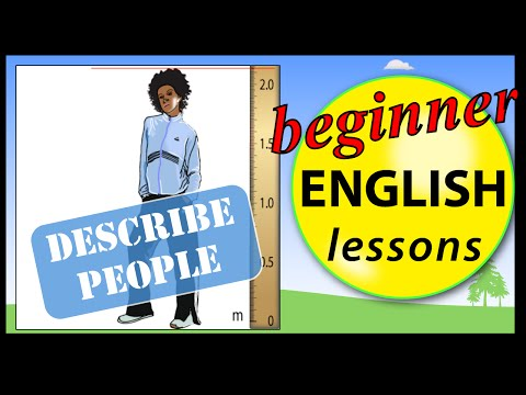 Describe people in English | Learn English Lessons - Beginner vocabulary