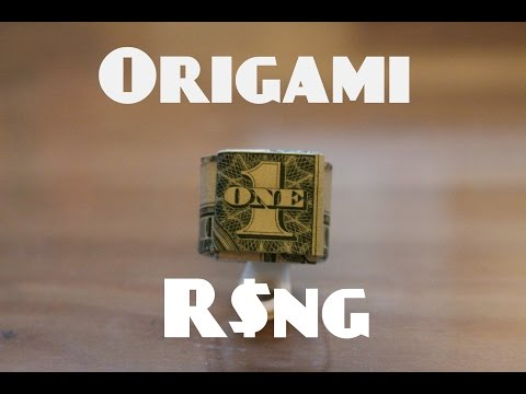 How to Make an Origami Dollar Ring (Moneygami)