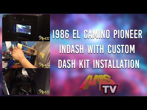 Project 30 1986 EL CAMINO PIONEER INDASH with custom dash kit INSTALLATION