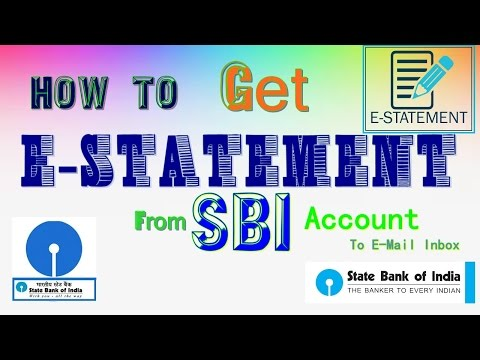 How to Get e Statement From SBI account free