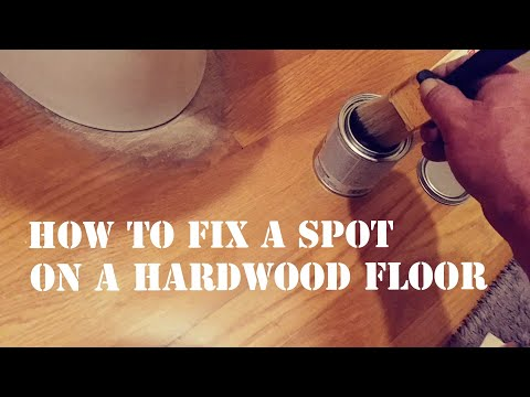 How to fix a spot on a hardwood floor