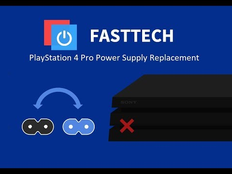 PS4 Pro Not Turning on Repair (PS4 Pro Power Supply Replacement in 10 minutes)