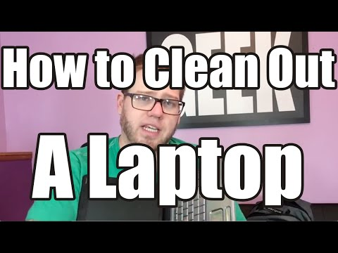 How do I clean my Laptop?  Blow out the dust